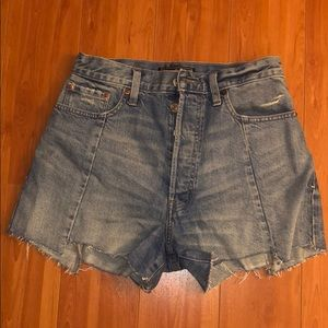 Abercrombie & Fitch denim high waisted shorts
